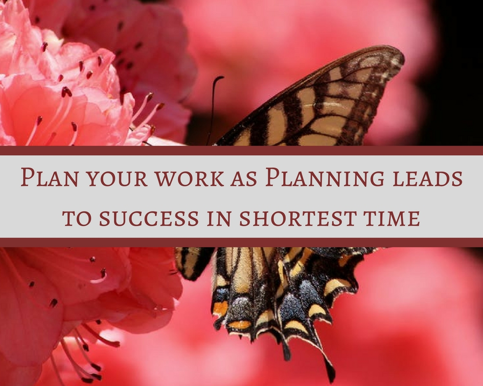 Planning leads to success