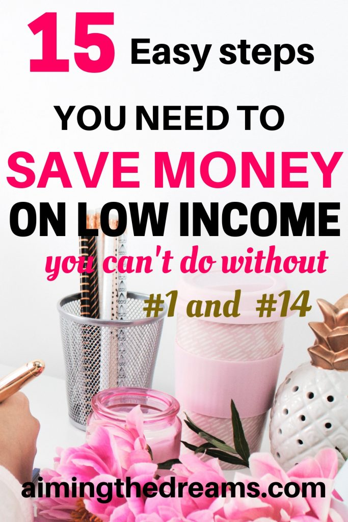15 steps you need to save money on low income