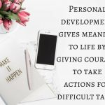 How personal development teaches you the meaning of life