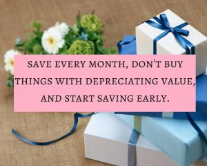 Don't buy big things with depreciating value