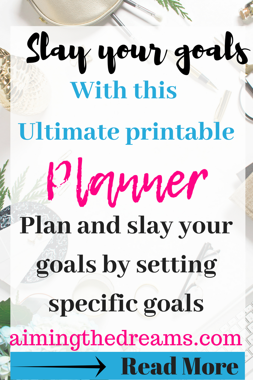 Planning your goals is important and so is slaying them. Accomplishing goals is 20% planning and 80% slaying. This ultimate planner will help you in setting your goals and slaying them.