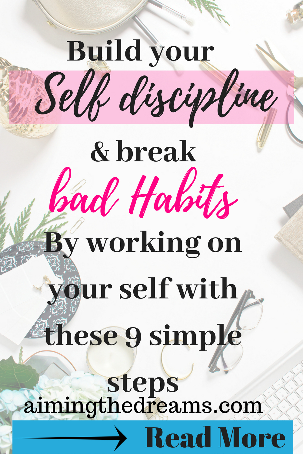 break bad habits by regularly working on them and replacing with good habits.