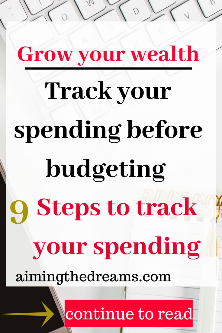 Grow your wealth by tracking how much you are spending. It becomes easy to plan a budget ans save money after tracking your spending
