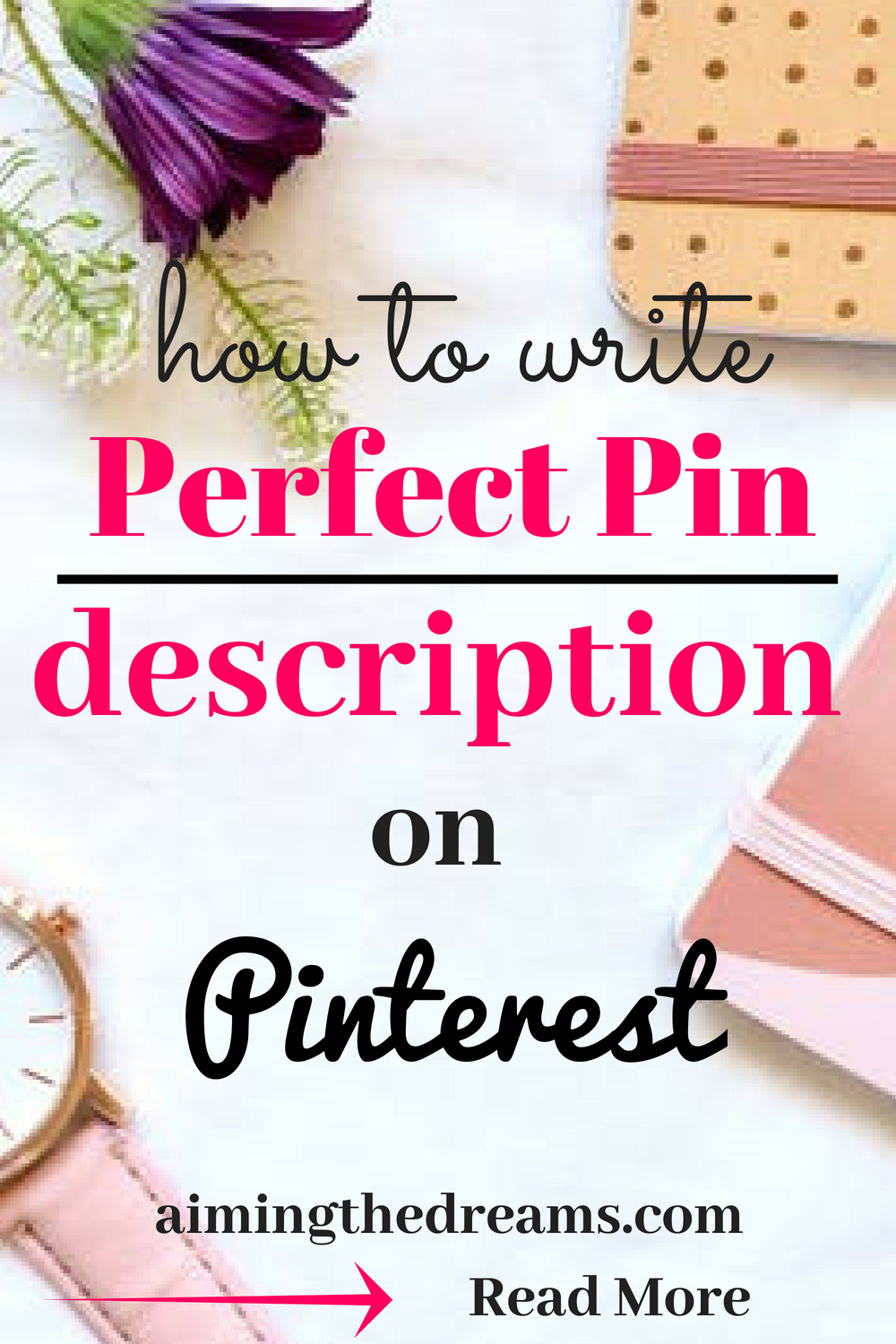 Perfect keyword rich description is required for your pins to stan out in smart feed. Pinterest read your image as well as description to show relevant pins .