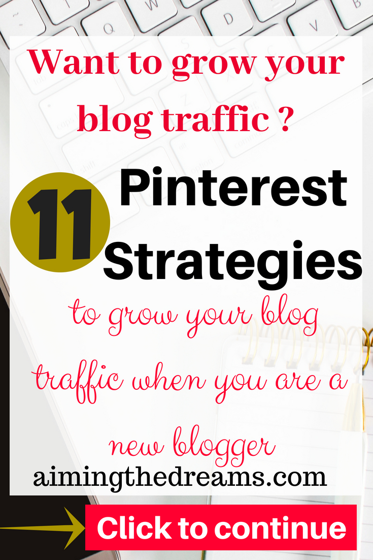 Pinterest strayegies help in grpowing your #blog #traffic when starting out as a new #blogger