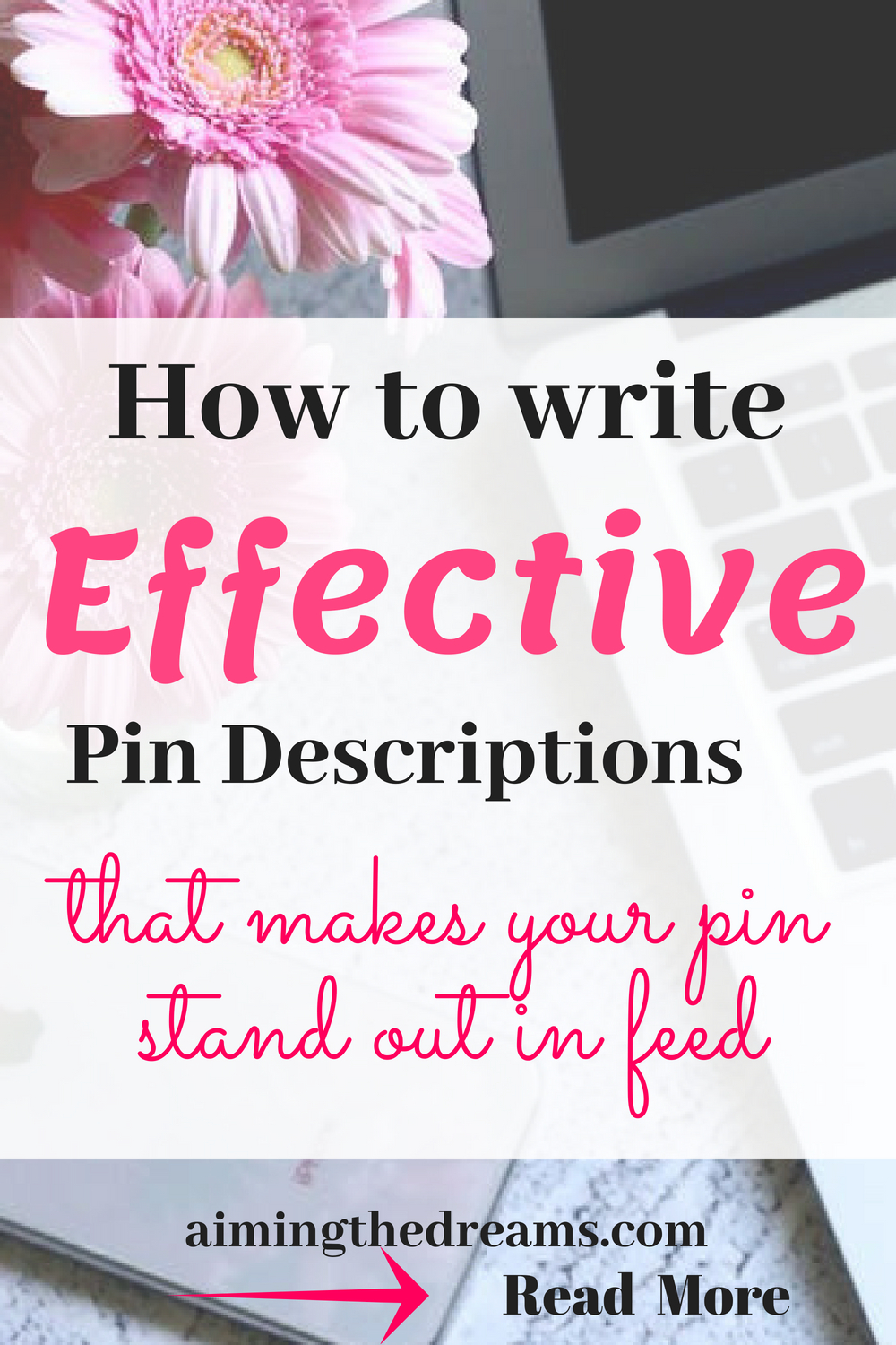 Writing keyword rich description is good for your pins to come up in smart feed.