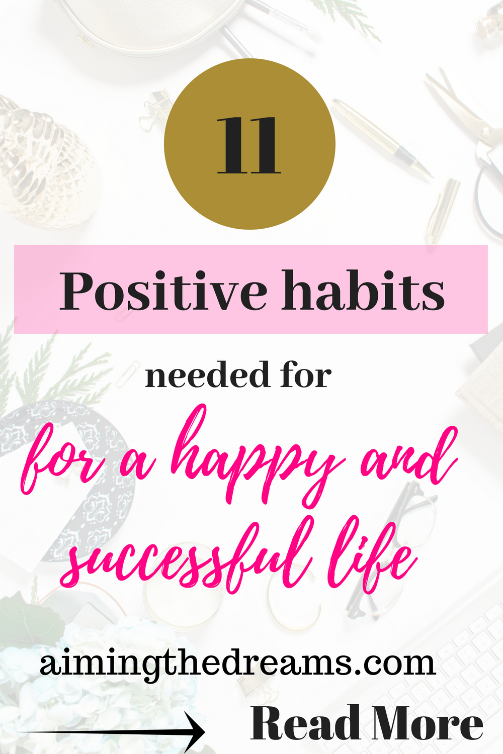 Cnanging your habits towards positivity helps in making life more beautiful and success comes from all the phases of life. Little changes daily helps in gearing your life towards happiness and success.