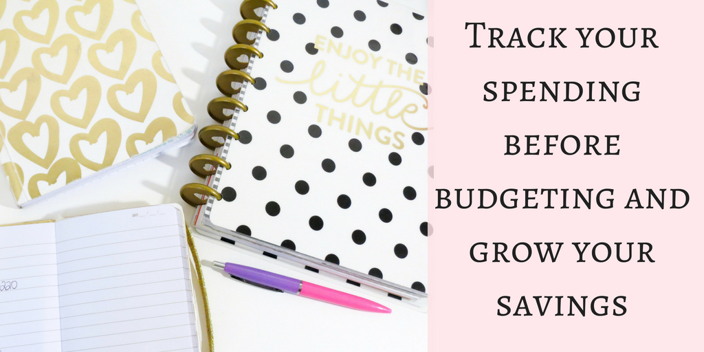 Track your spending with the tracker, planner