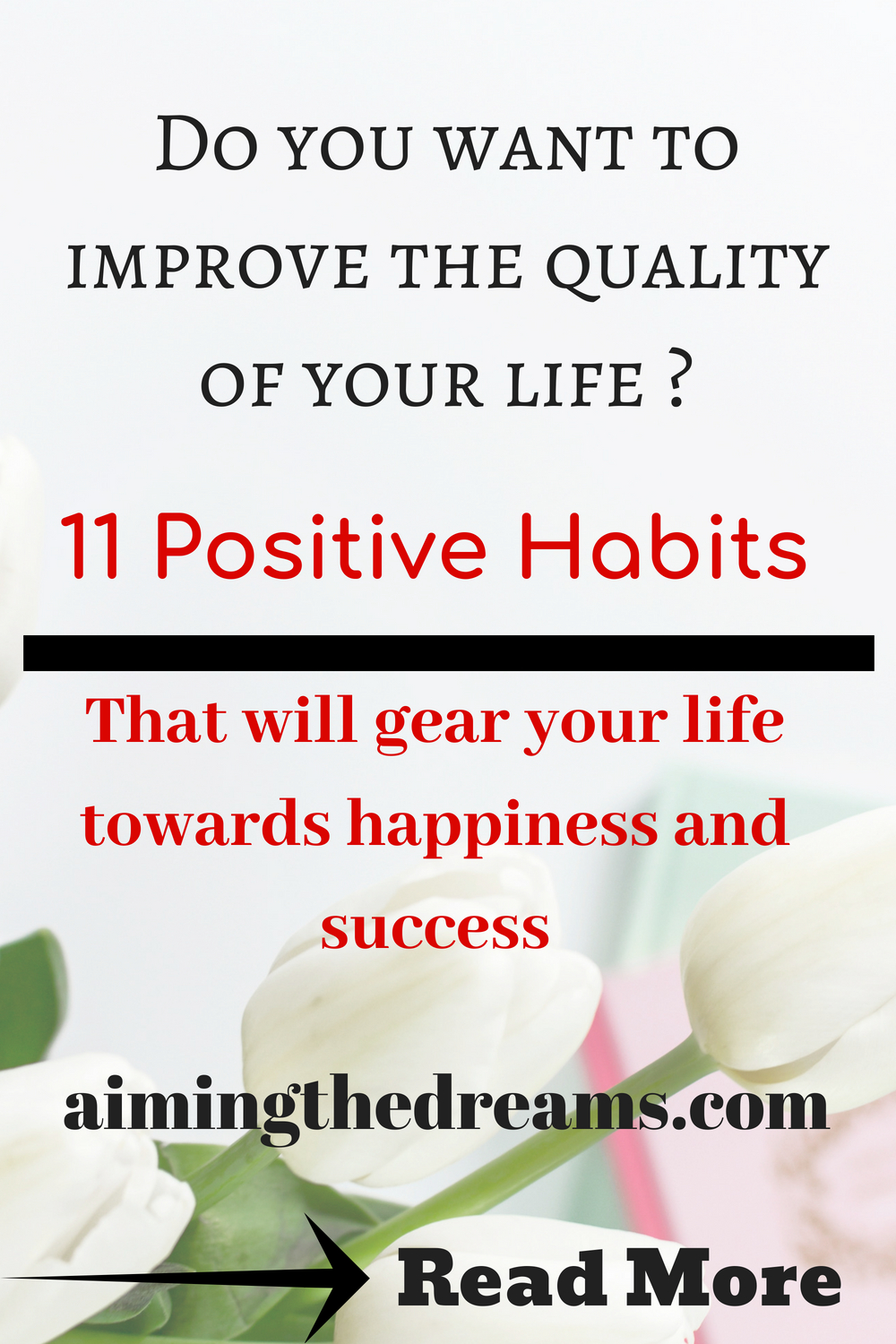 Positive habits are required for a positive and happy life. Little changes in improving our lives make life a success. Also positive life gives motivation to live life fully and happily.t