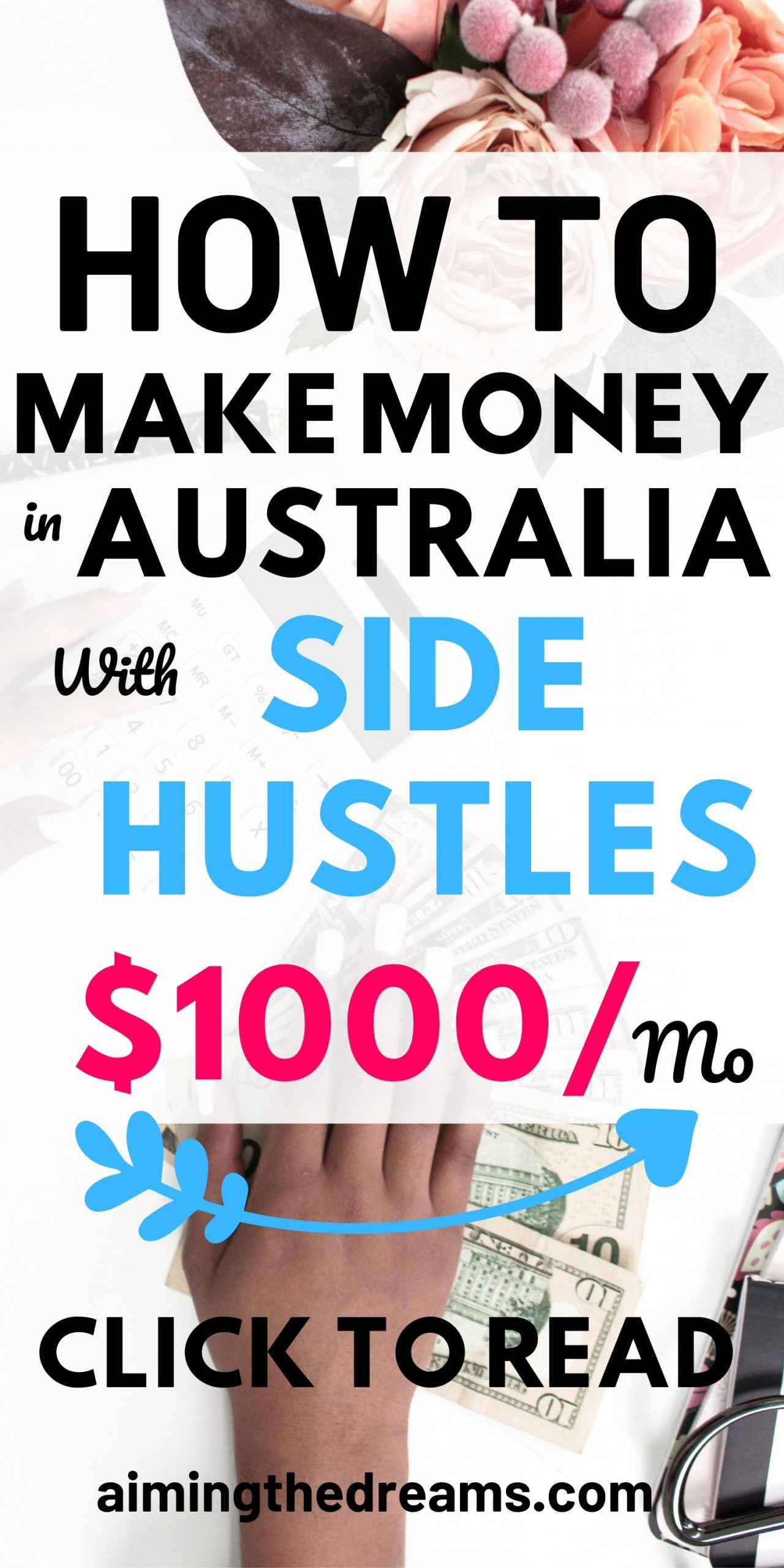 Make money with side hustles. These will let you make money online and work from home.