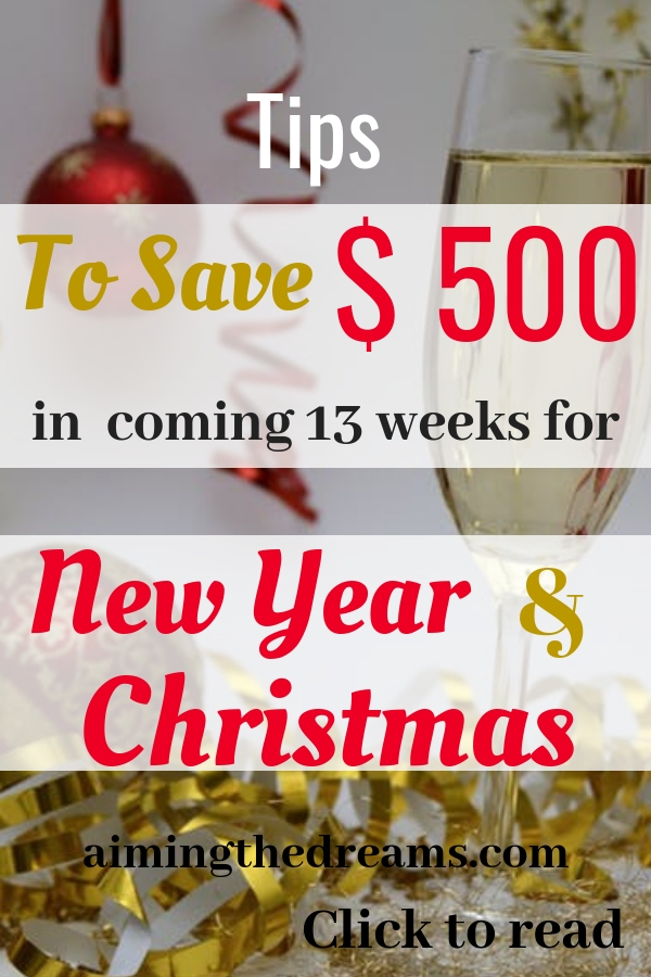 Ideas to save money for Christmas and New year celebrations in coming 13 weeks. Click to read.