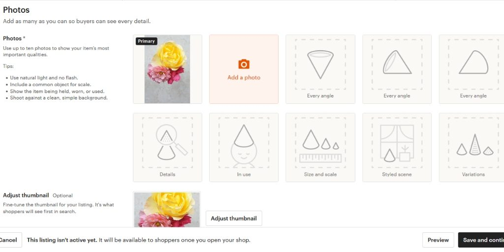 Product pictures on your shop