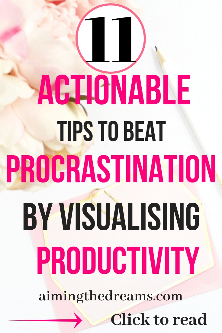 Actionable tips to beat procrastination by visualising productivity. click to read