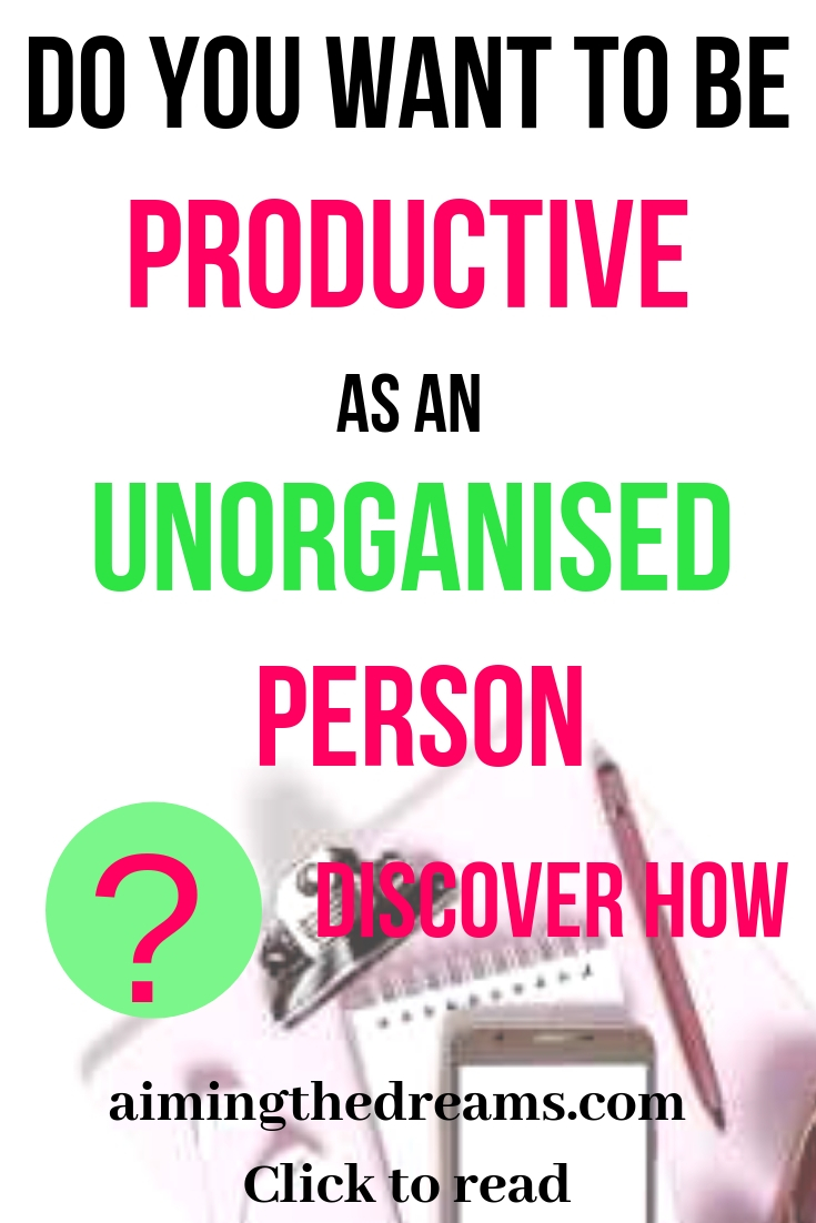 #Discover #ideas and #tips to become a #productive #person if you are little messy.
