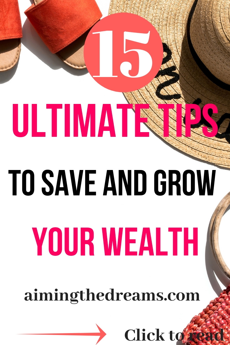 Tips on how to build and grow wealth. Simple changes and actions taken will makes a big difference in your finances. Click to read.