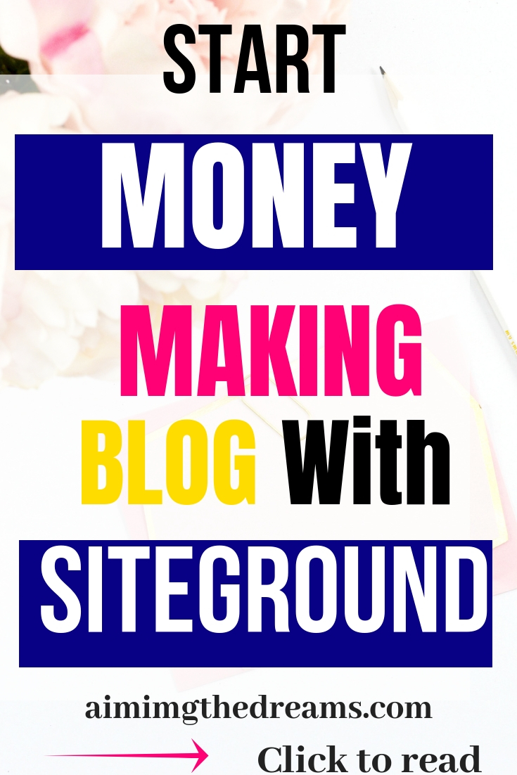 Start money making blog with siteground. Starting a blog is not hard.