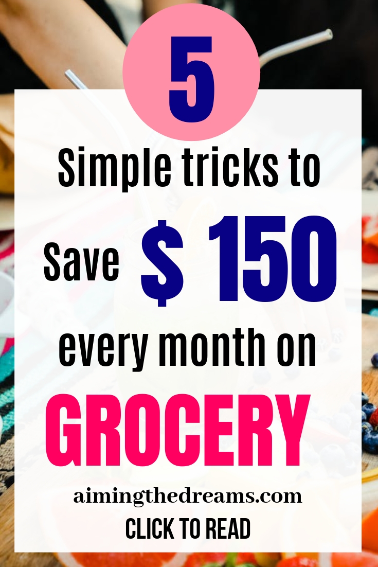 5 simple tricks to save on grocery a lot of money without cutting your food.