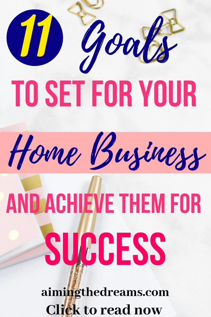 Goals to set for your home business and achieve them for success. Click to read.