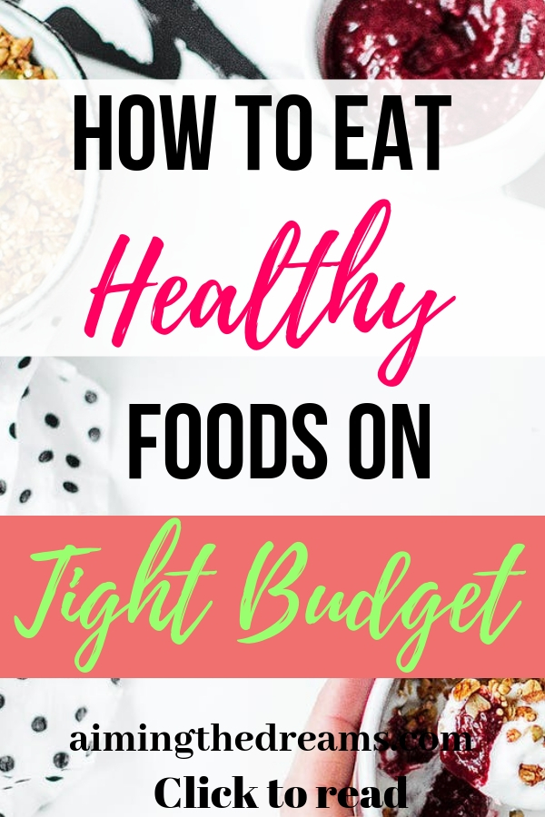How to eat healthy foods on very tight budget and stay healthy without worrying about money.