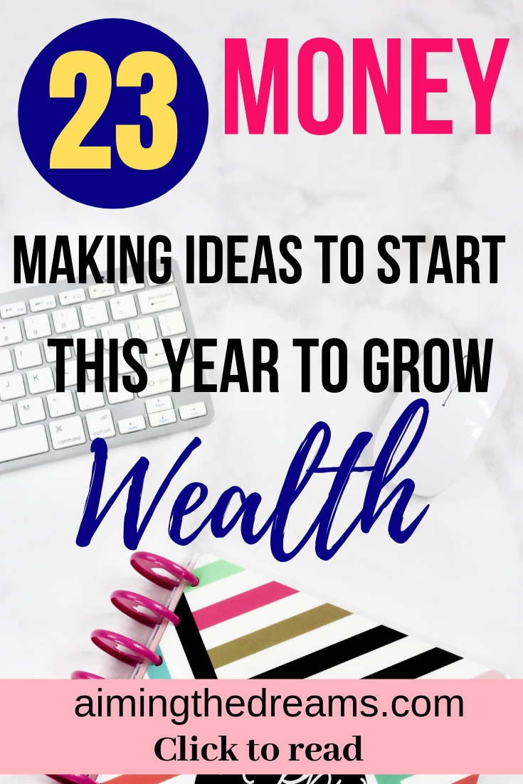 Money making ideas to grow wealth this year. Try these tips and earn money as stay at home mom