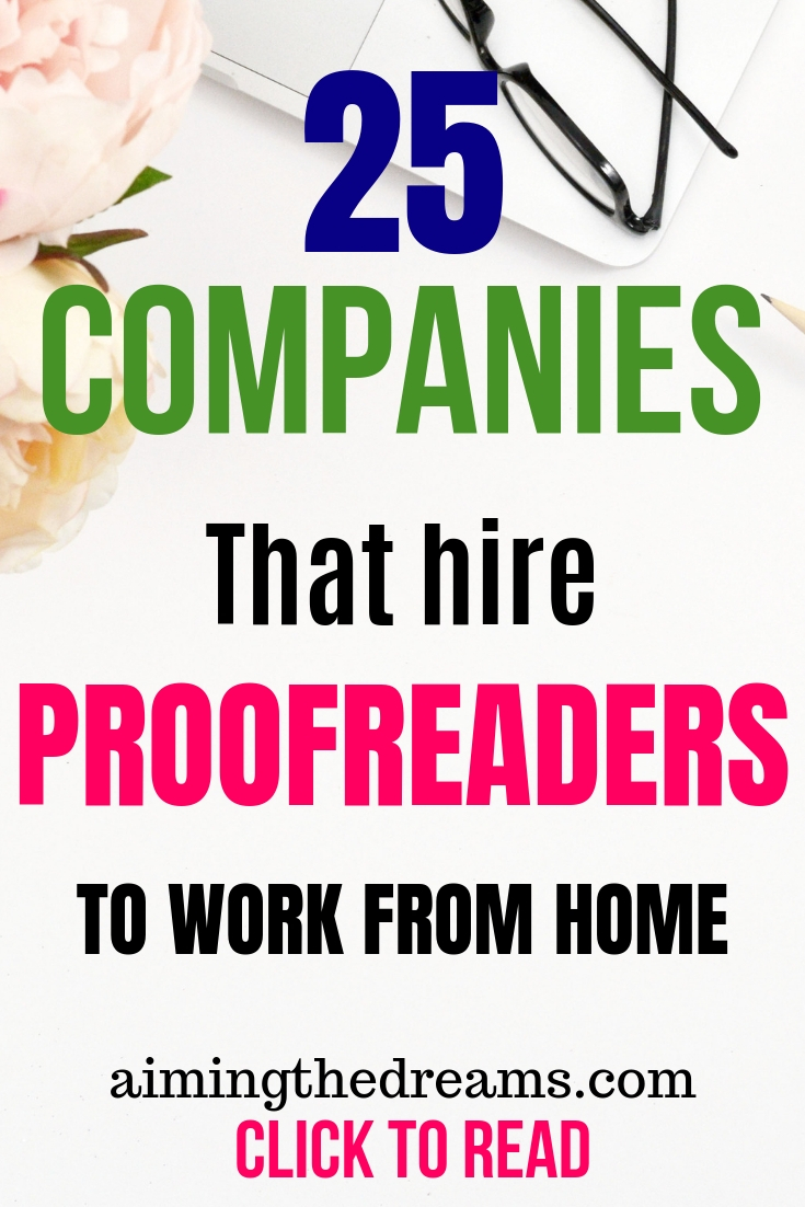 25 companies that hire proofreaders to work from home