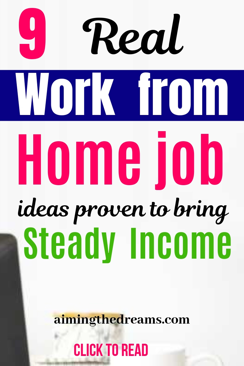 9 best work from home job ideas tested to bring steady income.