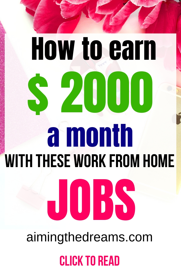 How to earn money with work from home jobs. Increase your income this year with these side hustles.