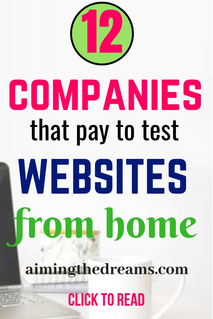 companies pay money to test websites from home. Earn money by work at home jobs.