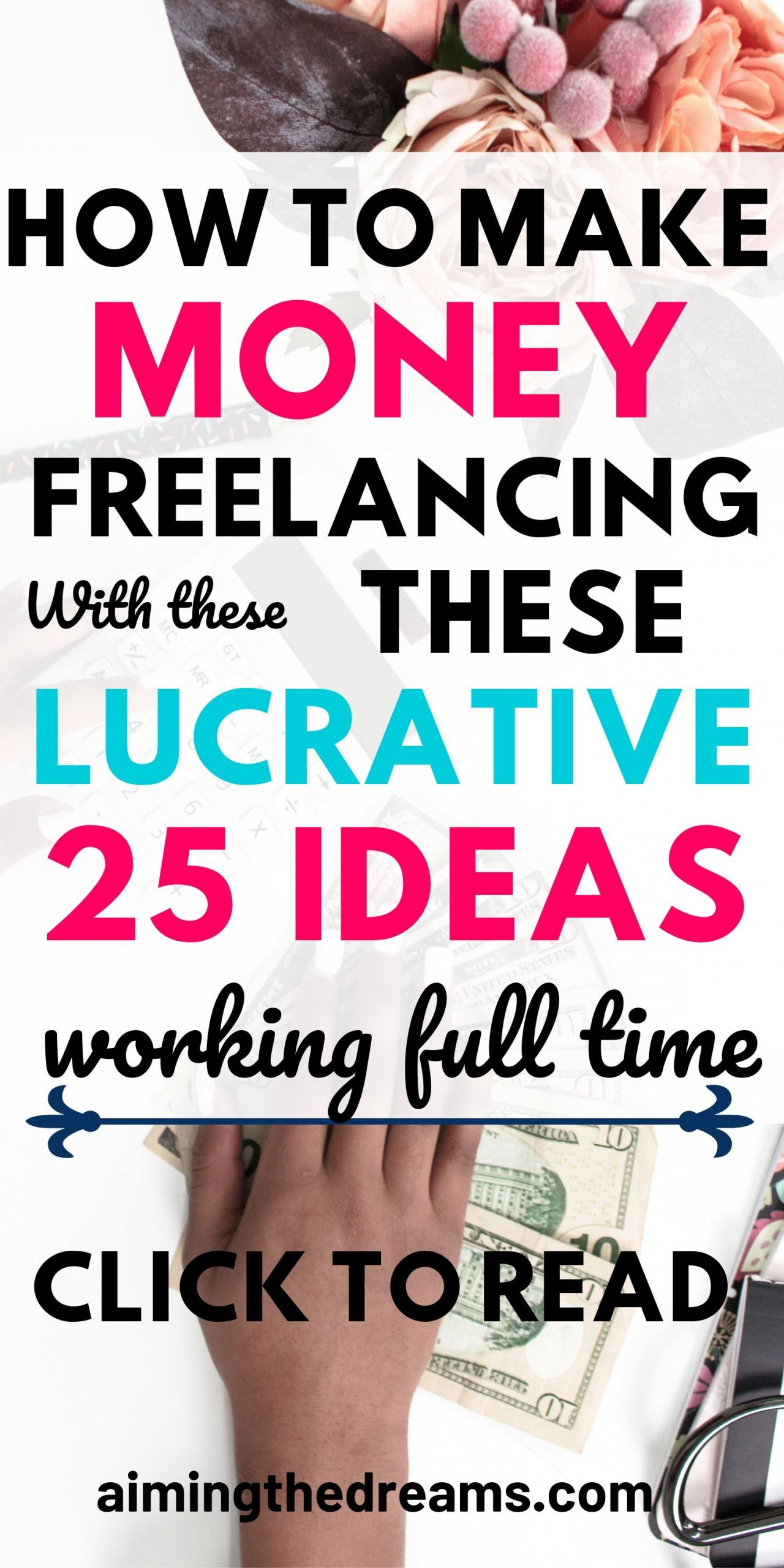 25 freelance work ideas to make money while working full time. Side hustle ideas let you work from home along with your full time work.