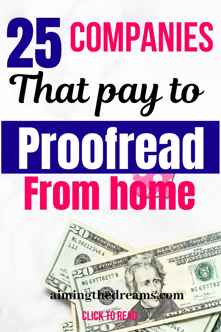 companies that pay to proofread from home . Work from home ideas as side hustles.