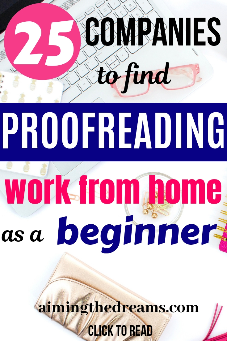 25 companies that pay to proofread from home. Make money while stay at home mom.