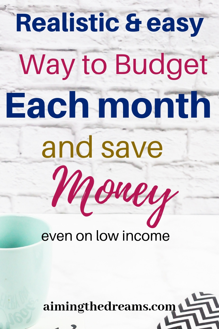 Realistic and easy way to budget each month and save money. Set financial goals and accomplish them accordingly.