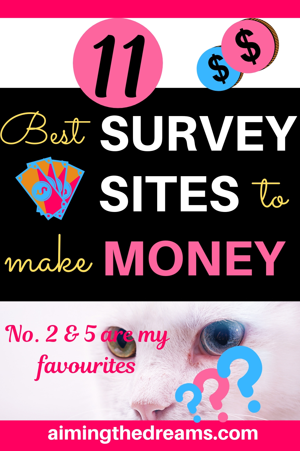 11 best survey sites to make money and earn income online as side hustle.