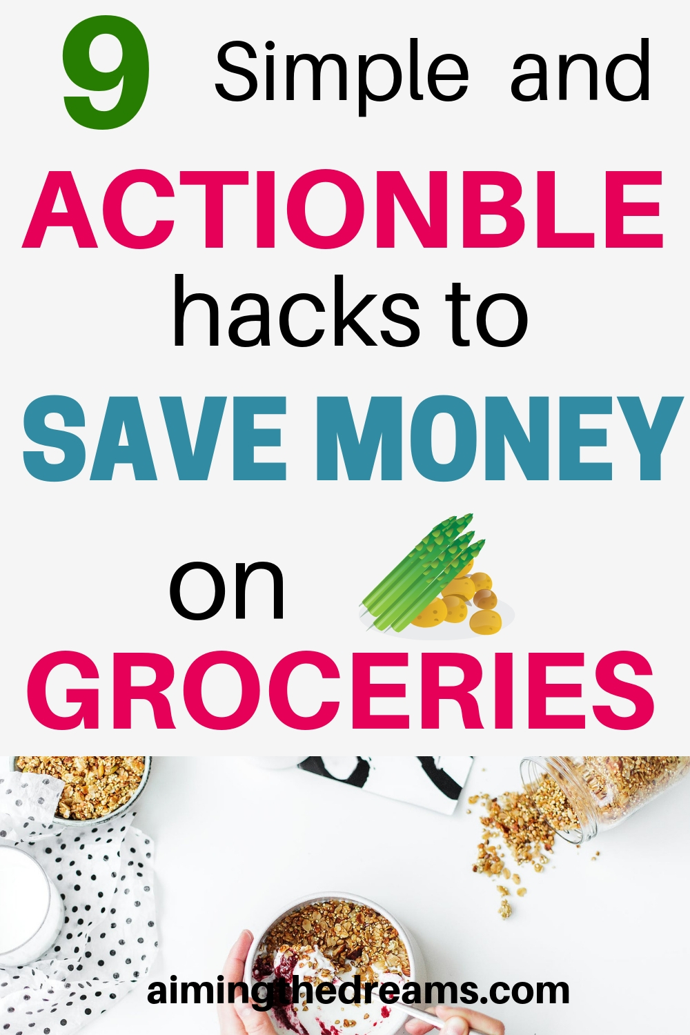9 simple and actionable hacks to save money on groceries each month. Build wealth with simple changes in your lifestyle.
