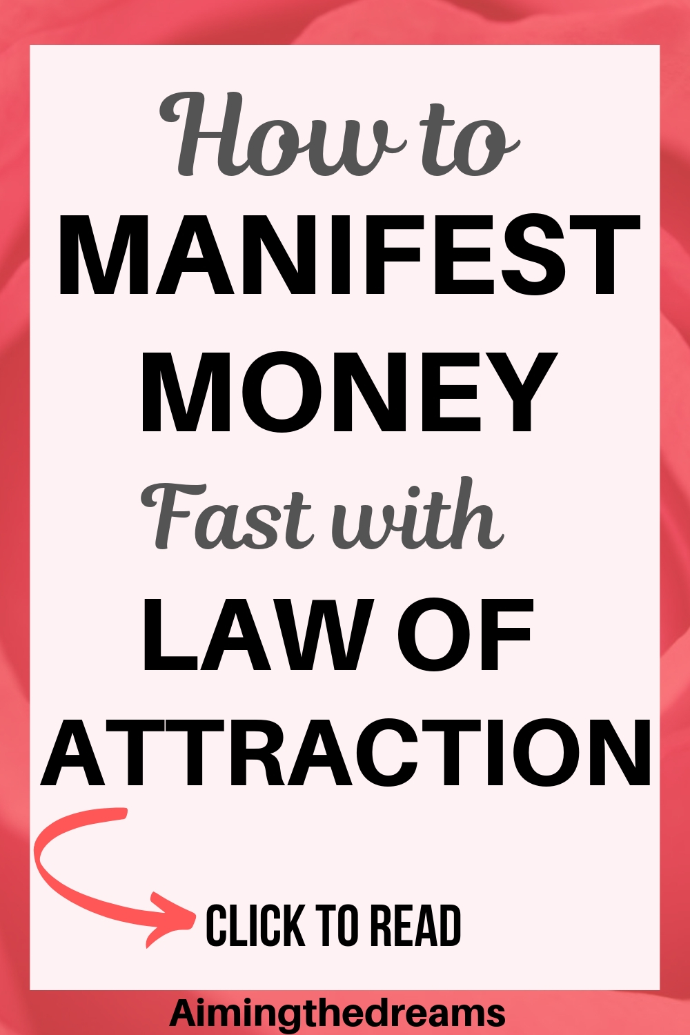 How to manifest money abundant money with law of attraction and create anundance.