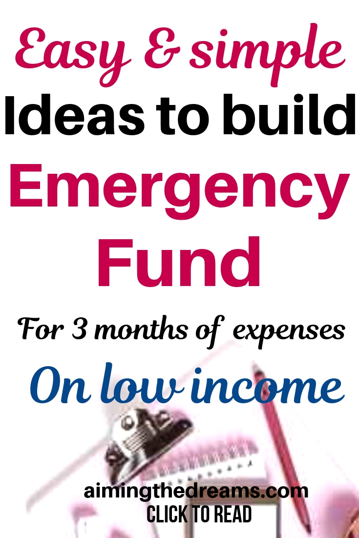 tips on How to build an emergency fund on very low income. For financial freedom, you need to have a cushion before taking any step.