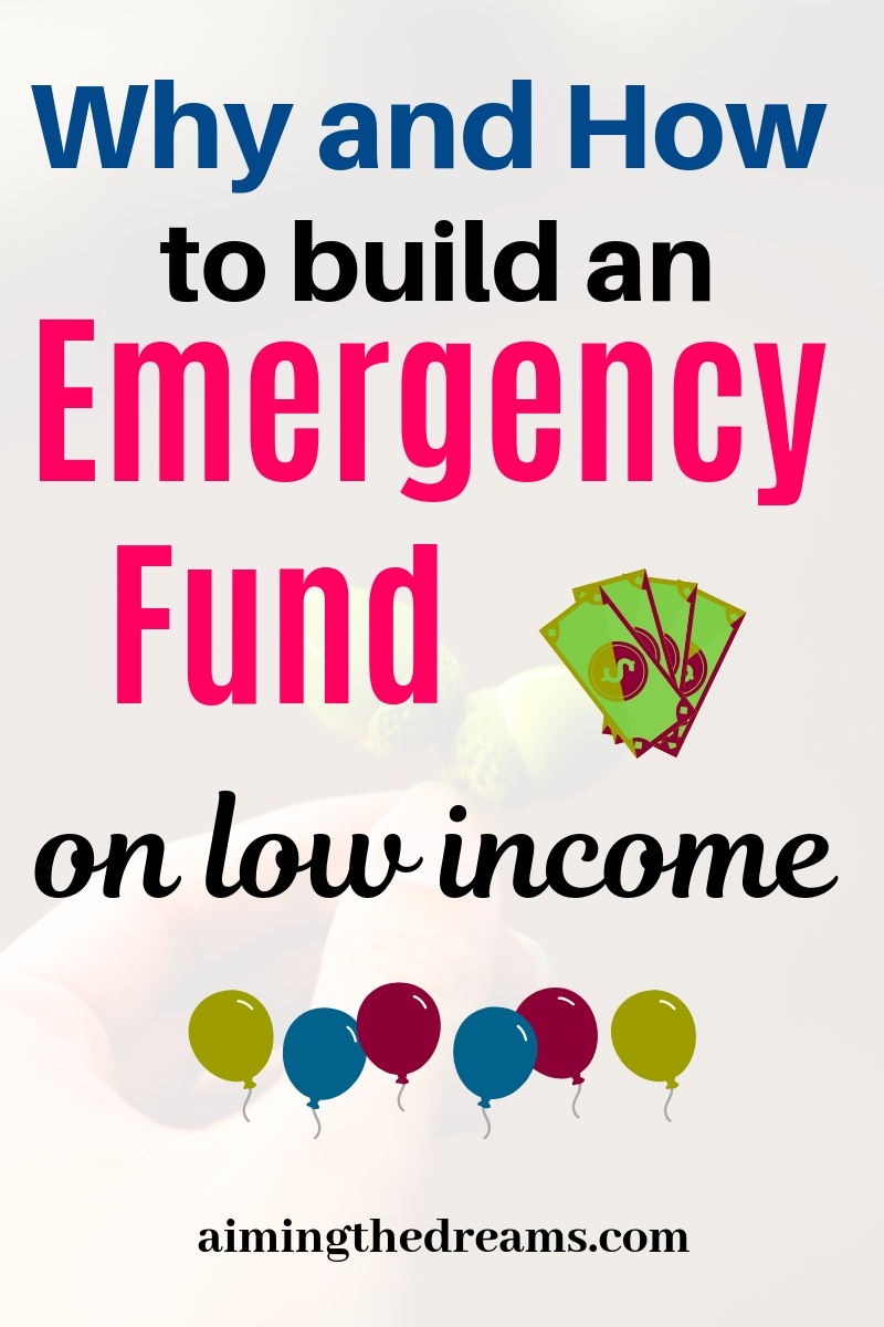 why and how to build an emergency fund on very low income