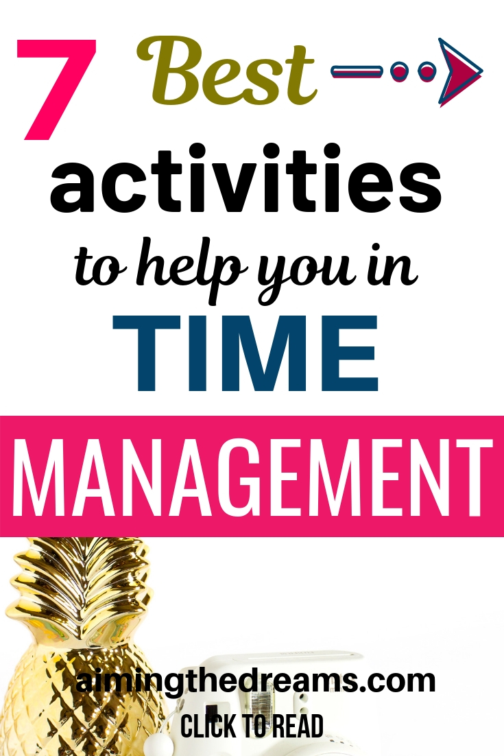Time management activities to make you more productive . Change your habits and see the results