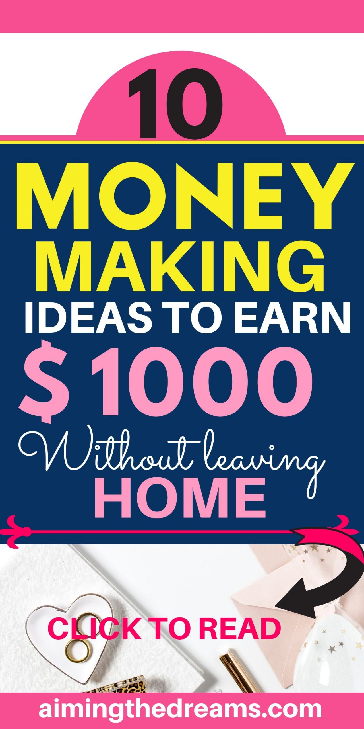 10 Money making ideas to make $1000 without leaving home.