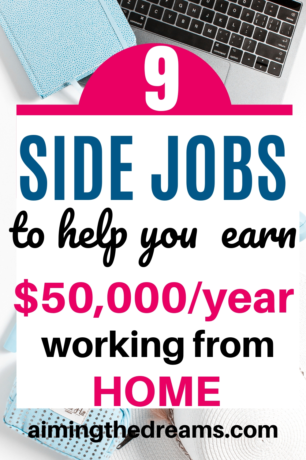9 side jobs to earn $50,000 a year from home. Side hustles can become your full time income.