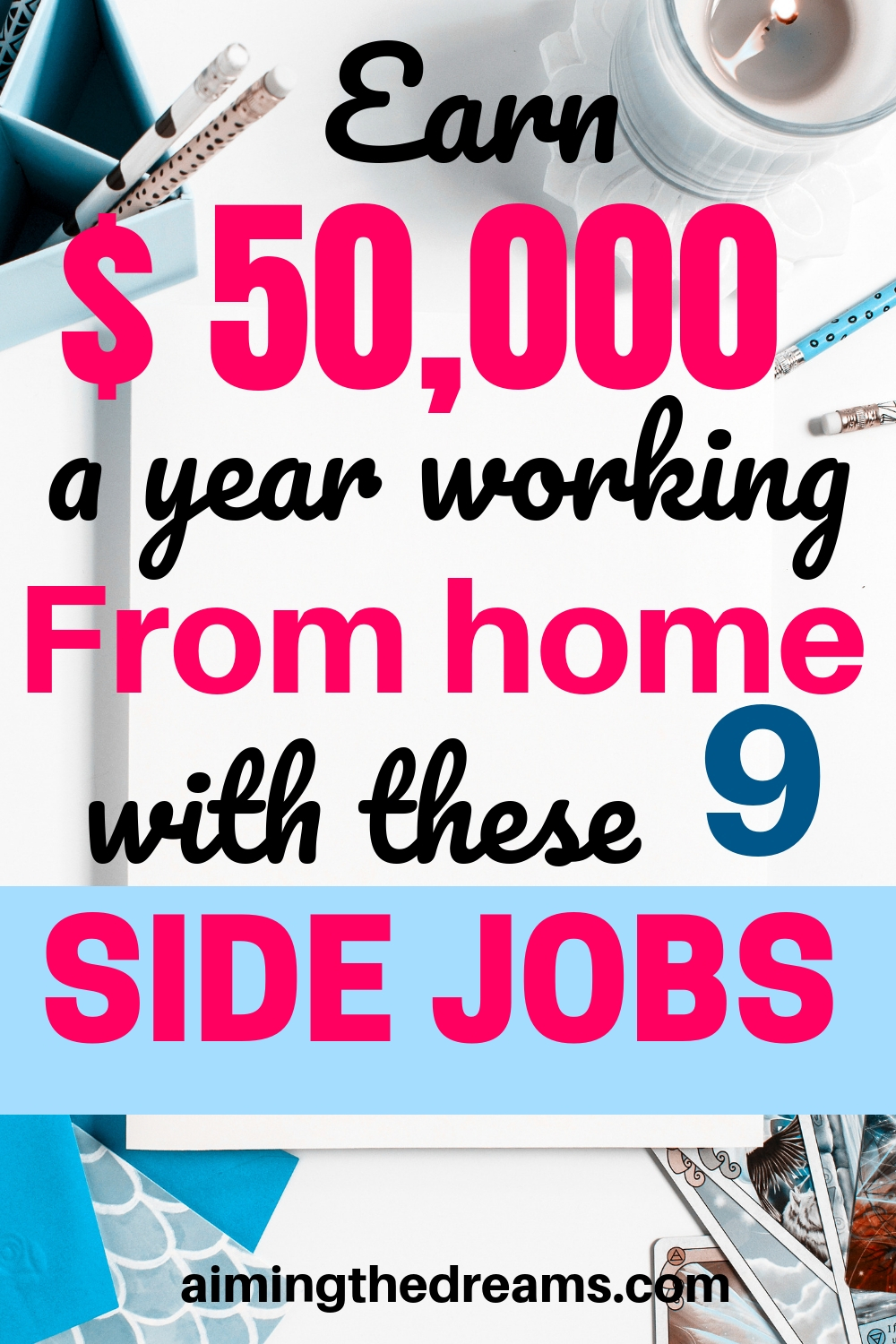 9 best side jobs to earn $50,000 a year working from home.