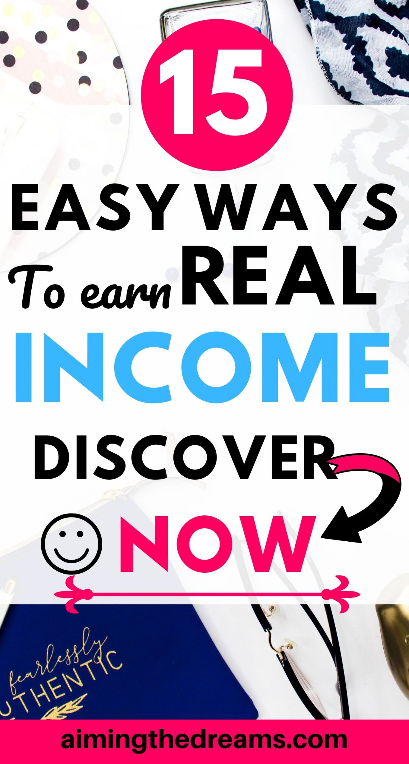 15 ways to earn real income the easy way. These side hustles let you earn money and #work from home.