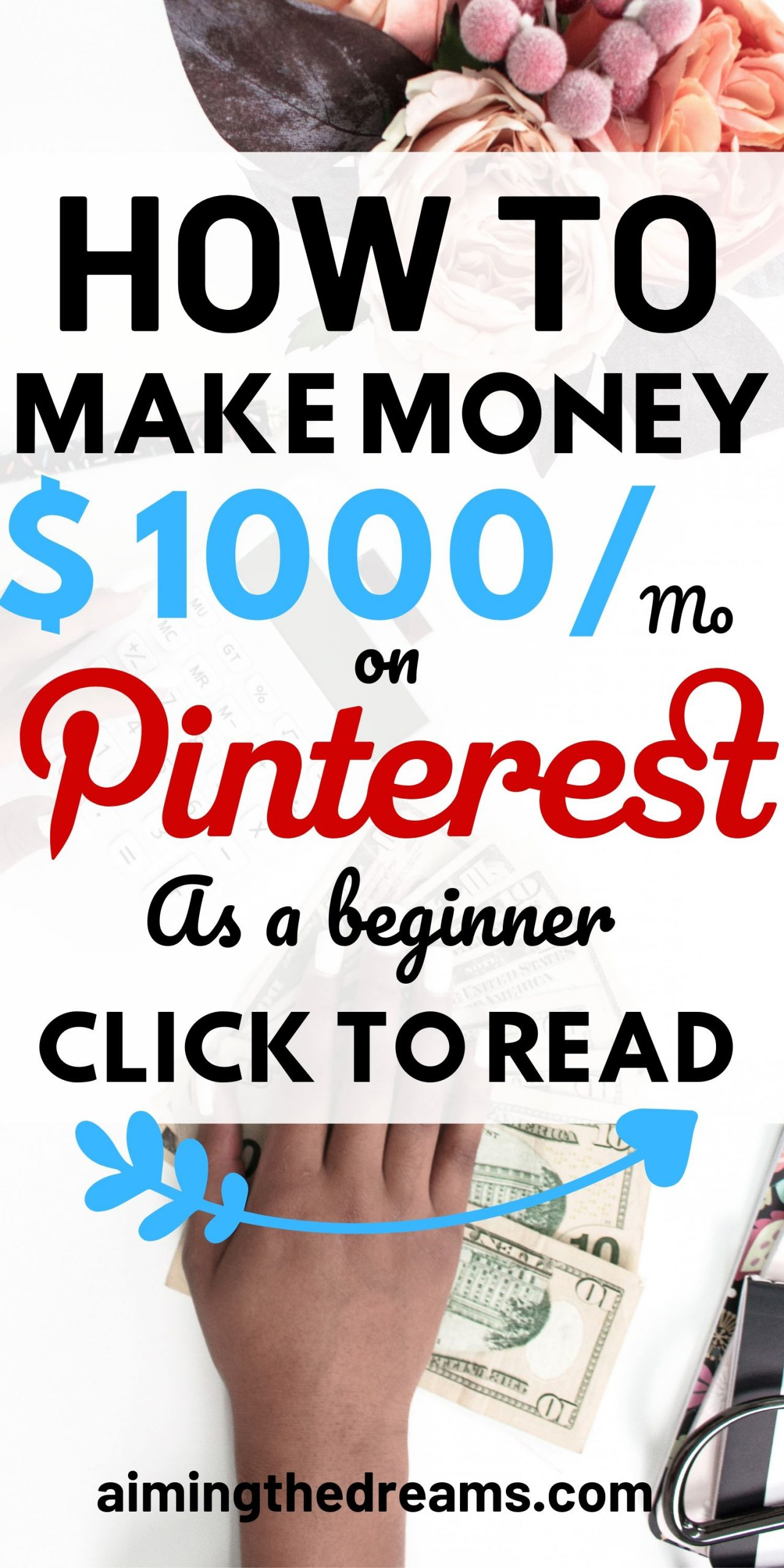 How to make money with Pinterest as a beginner. Side hustles let you make money online and work from home