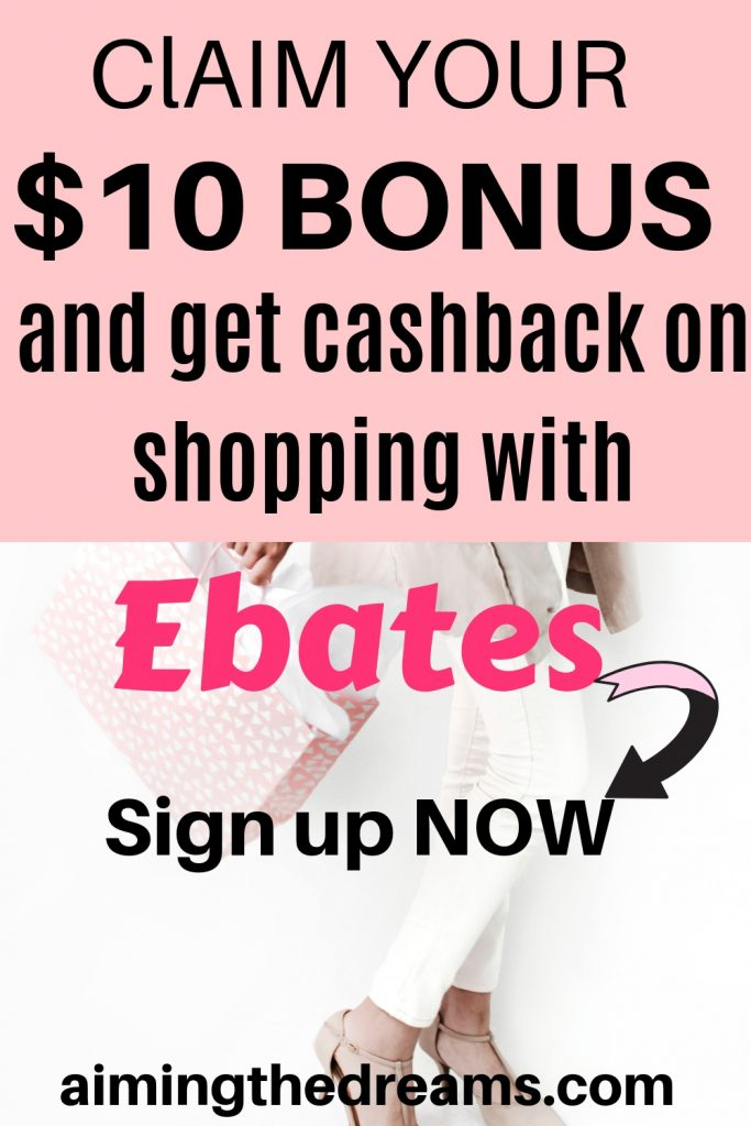 Earn cashback with Ebates and claim your $10 sign up bonus