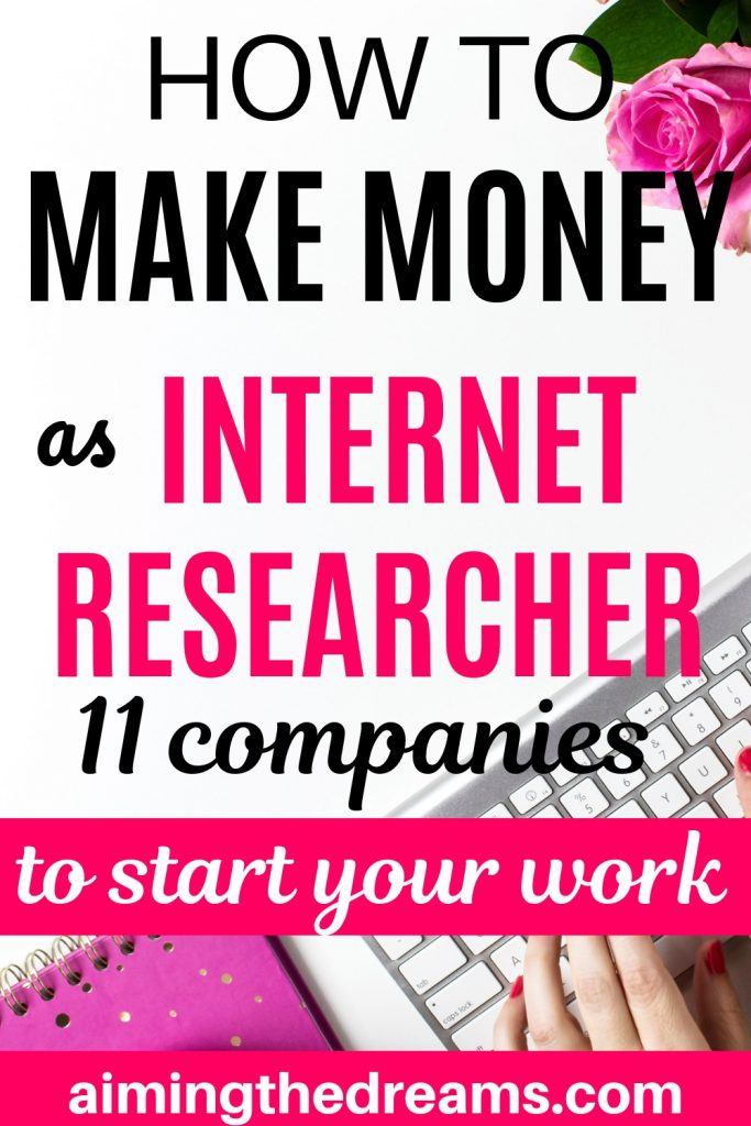 How to make money as internet researcher.