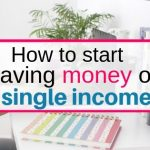 How to start saving money on single income