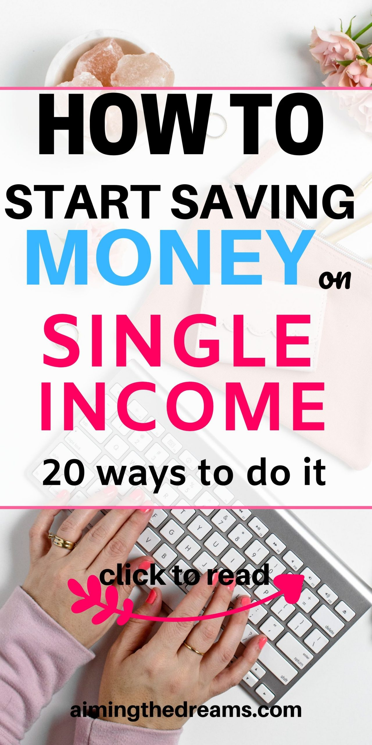 How to start saving money on single income. Start budgeting, sidehustles and make money as extra income if you want to save money.