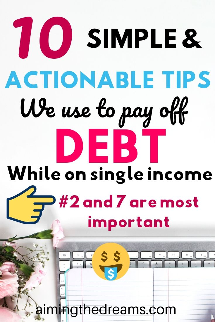 10 simple and actionable tips to come out of debt when you are broke as hell and want to debt free.