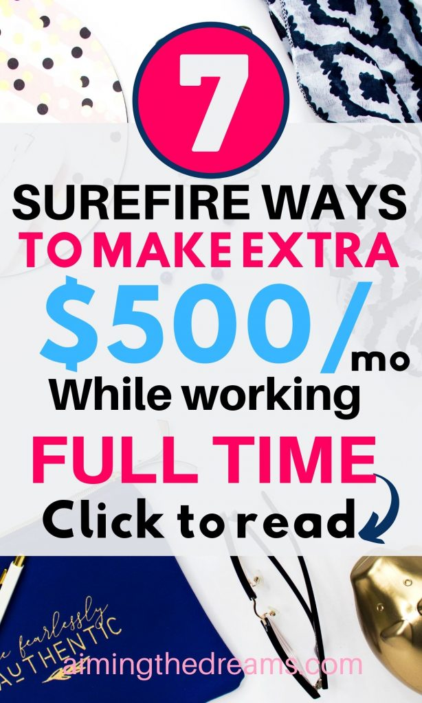 7 surefire ways to make extra $500 this month easily.
