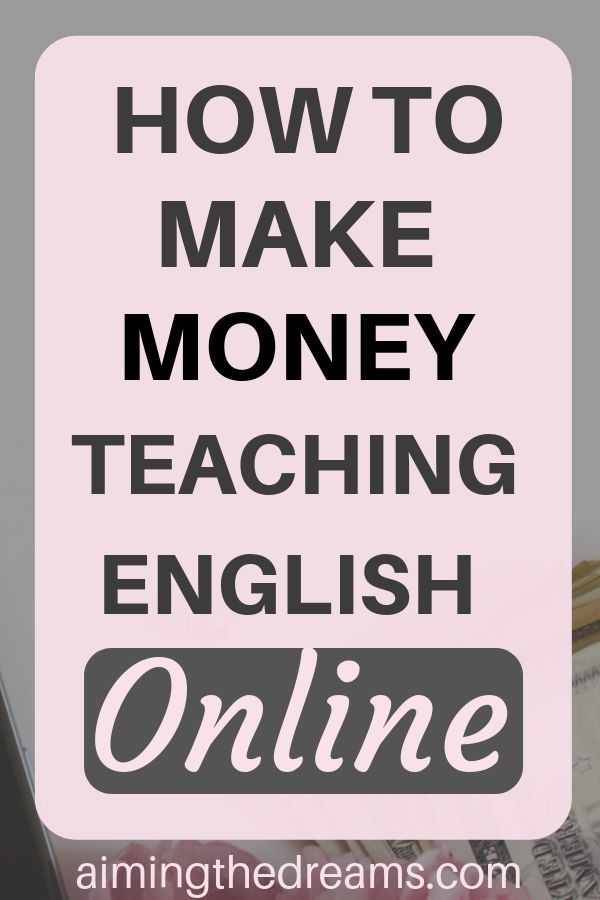 How to make money teaching English online